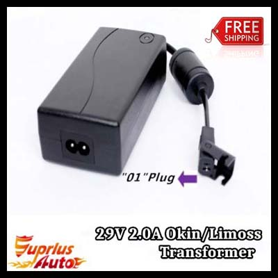 FREE SHIPPING Okin Power Recliner Replacement or Lift Chair 29V 2.0Amp AC/DC Switching Power Supply Transformer<br>