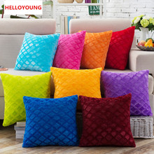 BZ039 Luxury Cushion Cover Pillow Case Home Textiles supplies Lumbar Pillow Super soft short plush chair seat(China)