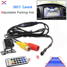 2017 Latest Adjust Marking Line Parking System car rear view camera front camera with remote control Parking Sensor