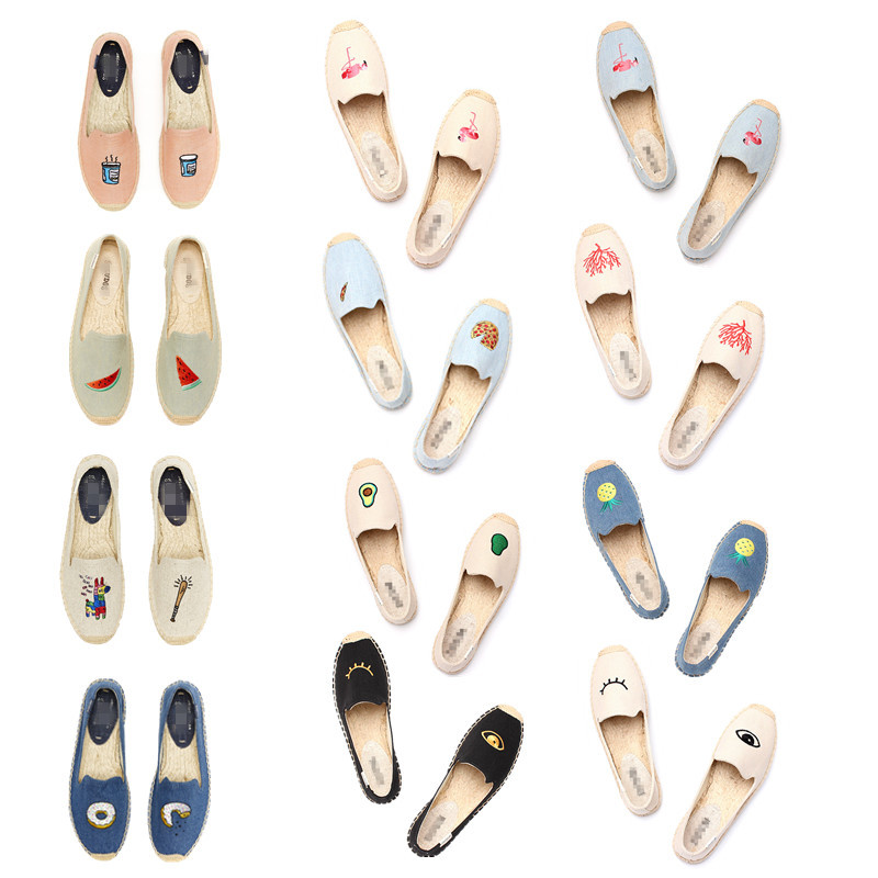 2017 Womens Esapdrilles Casual flat Shoes Breathable Flax Hemp Canvas espadrilles Slip-on Cotton sewing shoes natural soft Flat<br><br>Aliexpress
