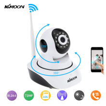 KKmoon 1280*720P 1.0 MP HD Wireless IP Camera Support Pan/Tilt Two Way Audio and P2P Plug Play ONVIF TF Card Slot Wifi IP Camera