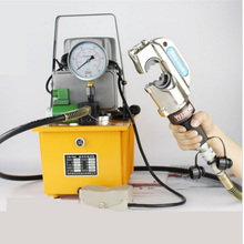 Hydraulic Crimping Tool CYO-400B Copper Cable Terminal Crimping Tools With 9PCS molds + Solenoid Valve Electric Pump 50-400MM2(China)