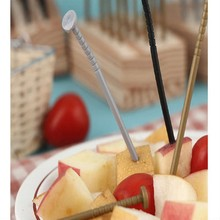 Hot 18pcs Plastic Fruit Fork Reusable Creative Iron Nail Style Snack Fork For Party Fruit Pick Cooking Tools Random Color