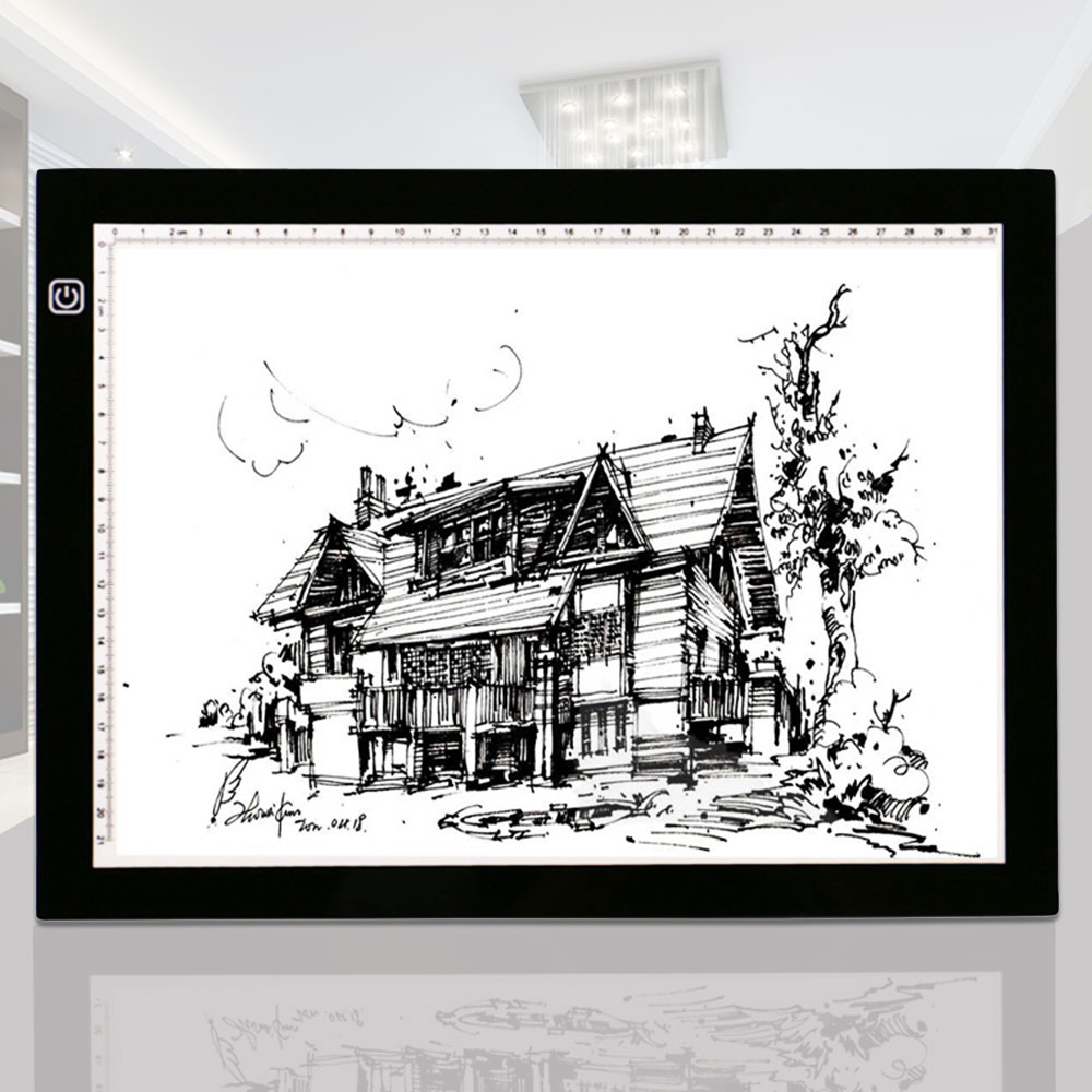 LED Tracing Light Box Drawing Copy Display Board Pad A4 USB Rechargable DC5V<br>