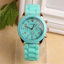 Luxury Quartz Watch Vogue Women's  Unisex Silicone Rubber Jelly Gel Quartz Analog Sports Women Gift Watches relogio feminino