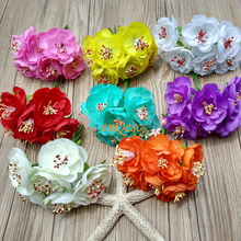 Camillia artificial flowers flower buds Silk flower for sinamay fascinator Bridal hair accessory Home Decor Wedding(China)