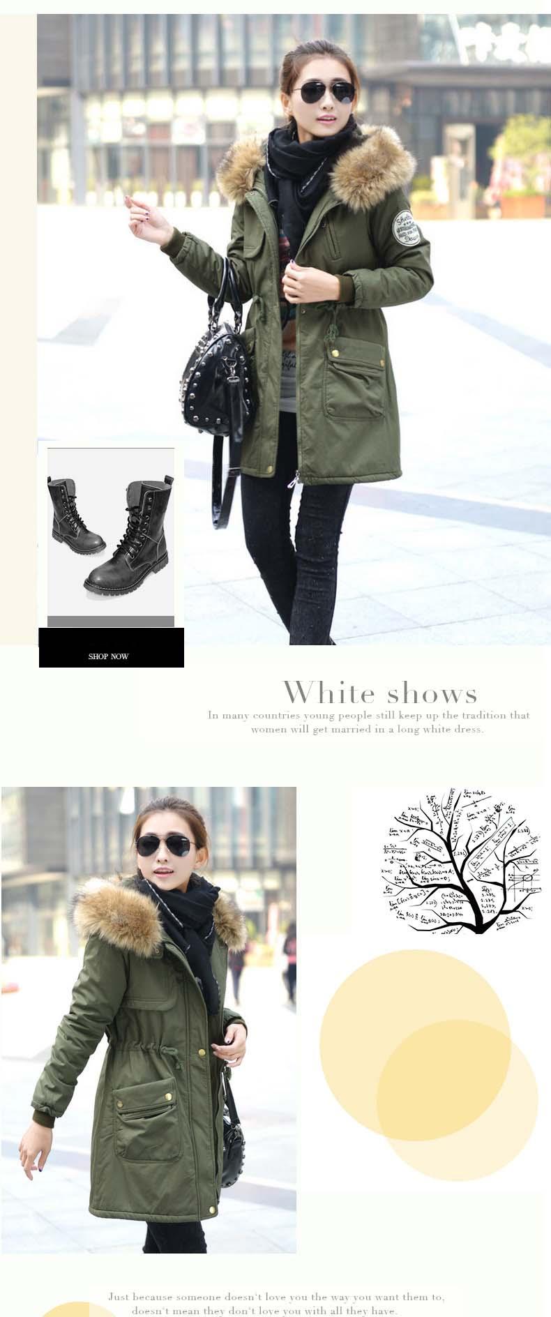 معطف السيدات متوسطة الطويلة 6