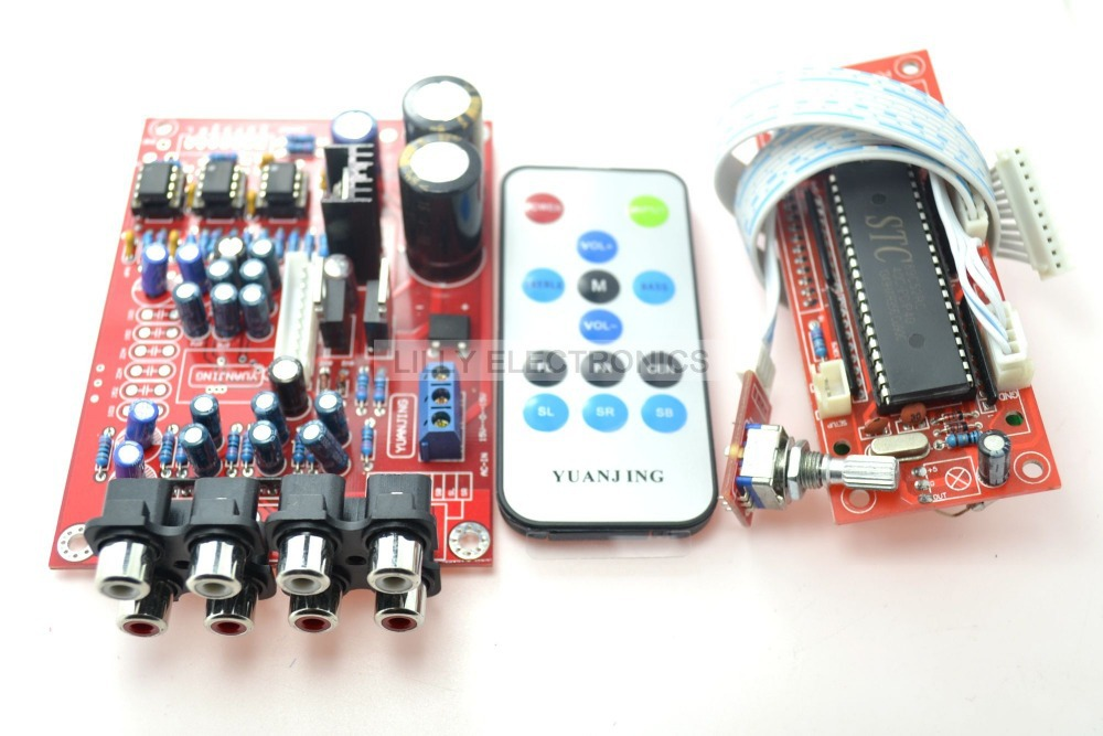 YJ 5.1 M62446 pre-amp board+Volume wireless control controller 6-channel<br>