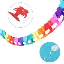 Rainbow Colors Hawallan Themed Chain Banner Events Beach Party Tropical P-alm Tree Party Decoration Favors Supplies