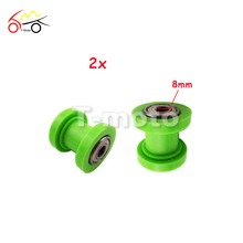 New 2pcs Motorcycle Chain Roller Tensioner Pulley 8mm For 50cc 100cc 125cc 160cc Chinese Pit Dirt Bike CRF KLX ATV Quads(China)