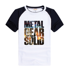 HOT High quality Personalized T-shirts Anime Game Products METAL GEAR SOLID Classic AceCool LOGO T-shirt Free Shipping