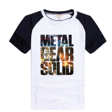 HOT High quality Personalized T-shirts Anime Game Products METAL GEAR SOLID Classic AceCool LOGO T-shirt Free Shipping(China)