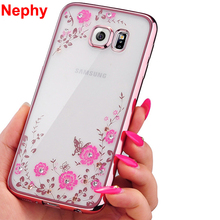 Nephy Case For Samsung Galaxy S3 S4 S5 S6 S7 edge S8 Plus S 3 4 5 6 7 8 Duos Neo Cell Phone Cover Silicone Ultra thin Glitter