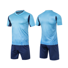 Survetement football 2017 new breathable blank mens soccer jerseys sets short football training suits quick dry uniforms design(China)