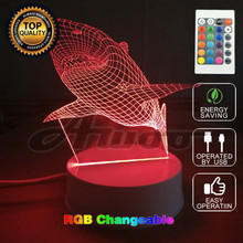 2017 New Creative Shark LED 3D Party Light Three-Dimensional Kids Bedroom Living room Bedlamp Table Lamp