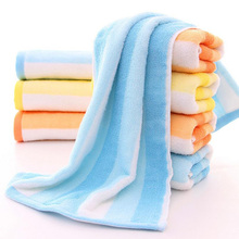 1Pc 74*34cm Women Colorful Rainbow Towels Cotton Face Clean Absorbent Microfiber Soft Solid Towel Quick Dry Bath Beach Towels(China)