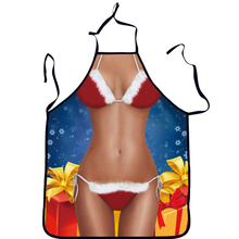 2017 new Christmas Apron Decoration for home for women Spoof Sexy Novelty Naked Party men Kitchen Cooking BBQ Bar Funny Baking(China)