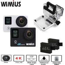 "4K Action Camera Wifi 2""LTPS+0.66 Status screen Sport Helmet Cam Full HD 1080P 60fps Mini Deportiva Camara go Waterproof 40m Pro(China)"