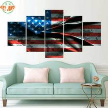 AMERICAN FLAG CANVAS PAINTING 4 Piece or 5 Piece Canvas Art Canvas Paintings HD Decorations For Home Wall Art Prints Canvas A541(China)