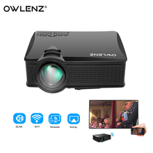 SD60 Mini LED Projector 1500 Lumens 1000:1 800*480P Support 1080P WiFi LCD Projector Multi-Screen w/ iPhone & Huawei Smartphone(China)