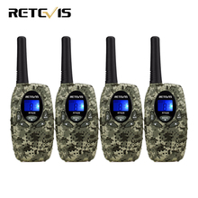 4pcs Retevis RT628 Mini Kids Radio Walkie Talkie Children 0.5W VOX PTT LCD PMR Frequency Portable Ham Radio Hf Transceiver Best