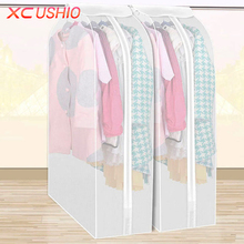 1pc Translucent Scrub Suit Dust Cover Protector Home Wardrobe Storage Bag Garment Clothes Dress Coat Dustproof Storage Organizer