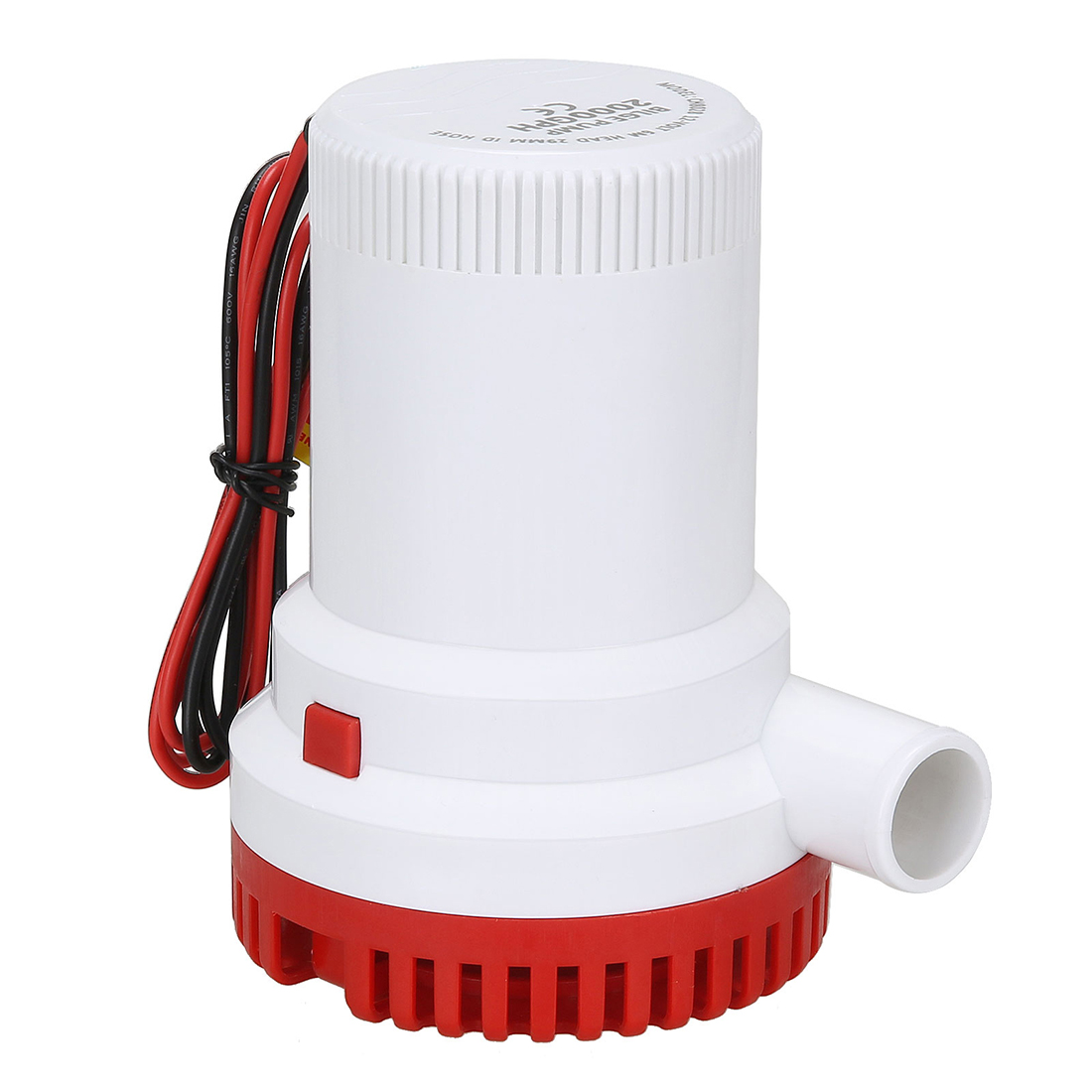 2000GPH Marine Water Bilge Pump Submersible Yacht Boat 12V Caravan Fishing Sea red<br>