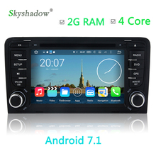 2G RAM Android 7.1 Car multimedia DVD Player gps map HD video For Audi A3 2003 2004 -2011 S3 RS3 RNSE-PU Radio WIFI BT TV camera(China)