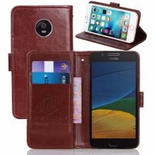 GUCOON Vintage Wallet Case for Motorola Moto G5 Plus 5.2inch PU Leather Retro Flip Cover Magnetic Fashion Cases Strap