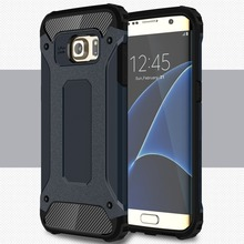 [Long Steven]For Samsung S7 Edge Case Unique Armor Anti-Knock Bumper Attached Dust Cap Cover For Samsung Galaxy S 7 Edge Case(China)