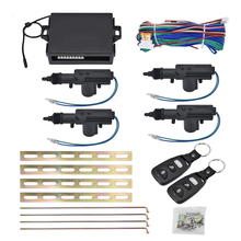 Universal Car Auto Remote Central Locking Alarm Security Kit 4 Door Bracket Keyless Entry System 360 Degree Rotation(China)