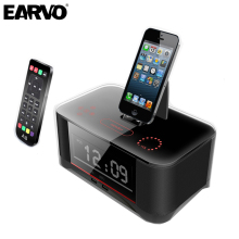 A8 Multi-function Alarm Charger Dock Station Stereo Bluetooth Speaker with NFC FM Radio Remote Control for iPhone 6 6s 7 Samsung