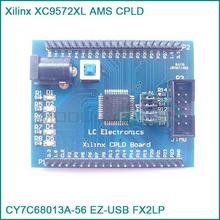 Xilinx XC9572XL AMS CPLD development learning board test board+4 programm LED