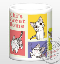 New Chi's Sweet Home Ceramic Coffee Mug White Color Or Color Changed Cup Type 2(China)