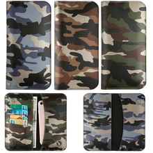 "5.5"" General Genuine Leather Wallet Army Camo Case Note7 For Samsung HTC For LG G4 For Xiaomi for Huawei For iPhone 8 7 Plus 6 S(China)"