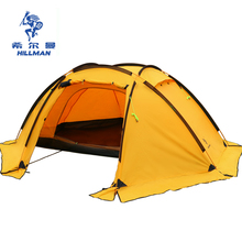 HILLMAN 3-4 MAN double layers tent big space aluminum poles 210T waterproof ultralight outdoor camping Spherical tent(China)