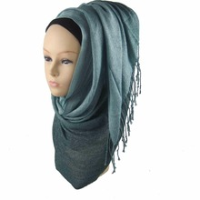 plain viscose scarf hijab shawl sparkly scarves ombre scarf hijabs , Can Choose Colors,Free Shipping PHO001