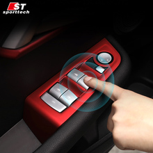 Car Styling Door Lift Window Handle Trim For BMW 1 Series Sedan F20 118i 120i Chromium Window Button Sticker For BMW -1(China)