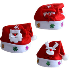 1PC Child 25*30cm Christmas Hat Christmas Tree Toppers Suppliers Xmas Party Decoratoon(China)