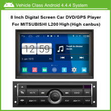 Android latest smart car machine operating system Car DVD Video Player For Mitsubishi L200 High Version