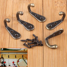 Free Shipping 10pcs/Set Vintage Antique Single Hooks Hat Coat Clothes Towel Robe Hooks Bath Wall Door Hanger Hooks