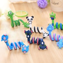Long Cable Winder Cute Cartoon Animal Headphone Earphone Organizer Wire Holder Action Toy Figures Set