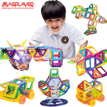 Magplayer Magnetic Blocks 108pcs Mini Magnetic Designer Blocks 3D Model Plastic Educational Magnetic Blocks Toys For Children(China)