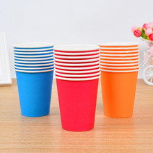 Solid Paper Cups Disposable Tableware Children Puzzle Handmade DIY Craft Toys Birthday Party Favor Decoration Christmas Navidad(China)