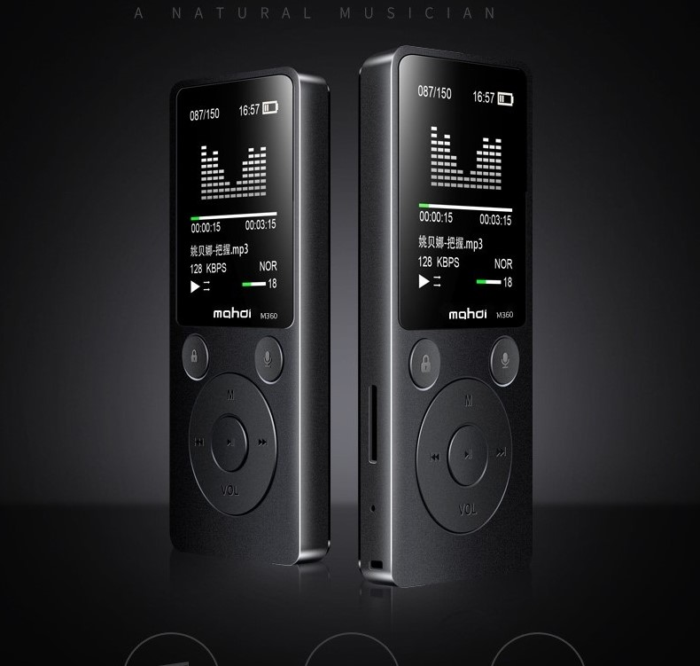 Top Brand MP4 Player Mahdi M360 4G8G Alarm Clock FM Radio E-Book Recording Speaker TF New Metal Sport MP4 With Armband Earphone (1)