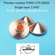 high quality precitec nozzle single layer 2.0mm  P0591-575-00020 for Fiber/CO2 laser cutting machines agents wanted in Russia