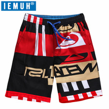 IEMUH Big Size Mens Shorts Surf Board Shorts Summer Sport Beach Homme Bermuda Short Pants Quick Dry Silver Boardshorts Plus Size