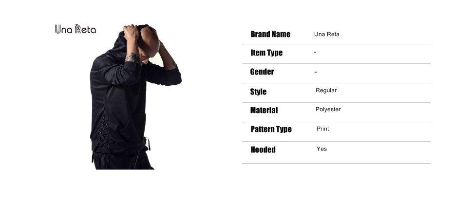 Una Reta Brand New Design Hoodie Men Fashion Sweatshirts Bandage Design Hip-Hop Style Plus Size M-5XL Pullover Sweatshirts Men 2