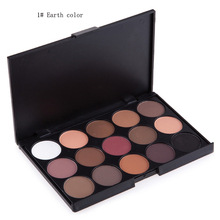 15 Color Eyeshadow Earth Color Pearl matte Eyeshadow Cosmetic Makeup Set Nude Eye Shadow palettes(China)