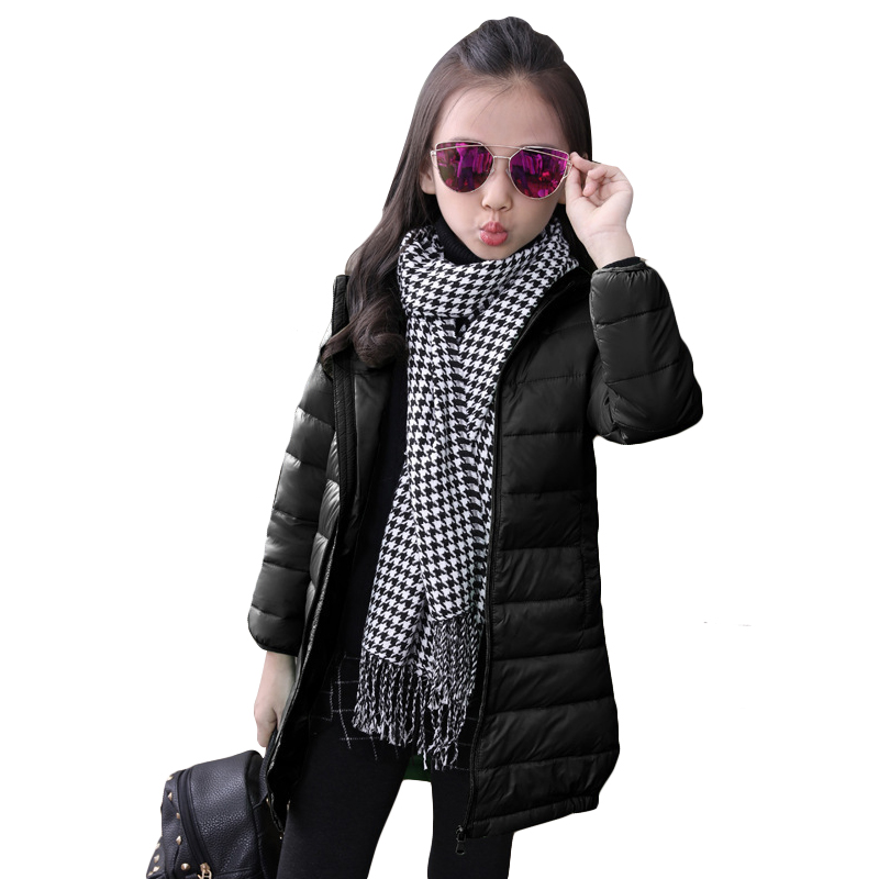 2017 Fashion Childrens down jackets coats Cotton-padded girls Spring / autumn / winter coat jacket children outerwear 110-150(China (Mainland))